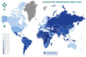 Corruption Perception Index 2009